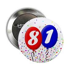 81st Birthday Button