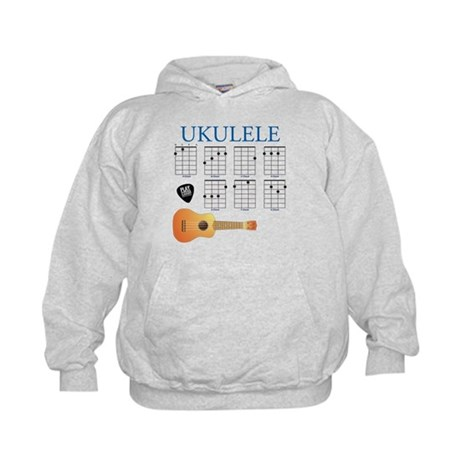 Ukulele 7 Chords Kids Hoodie