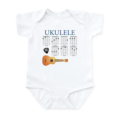 Ukulele 7 Chords Infant Bodysuit