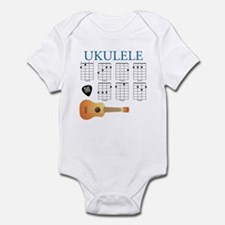Ukulele 7 Chords Infant Bodysuit