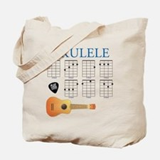Ukulele 7 Chords Tote Bag