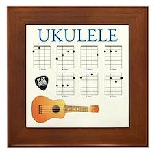 Ukulele 7 Chords Framed Tile