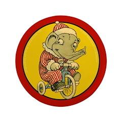 "EDDIE ELEPHANT 3.5"" Button (100 pack)"