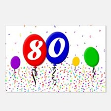 80th Birthday Postcards (Package of 8)