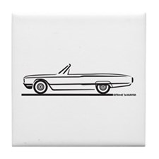 1964 Ford Thunderbird Convertible Tile Coaster