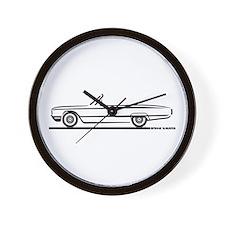 1964 Ford Thunderbird Convertible Wall Clock