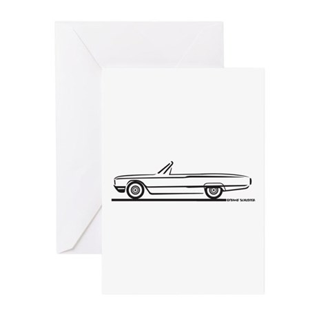 1964 Ford Thunderbird Convertible Greeting Cards (
