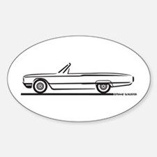 1964 Ford Thunderbird Convertible Oval Decal