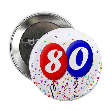 80th Birthday Button