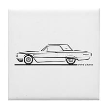1965 Ford Thunderbird Hardtop Tile Coaster