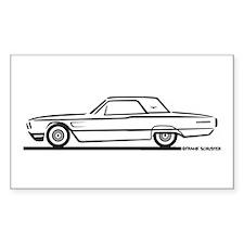 1965 Ford Thunderbird Hardtop Rectangle Decal