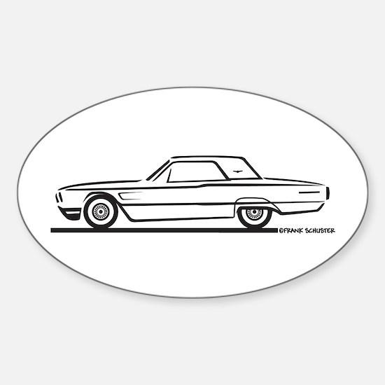 1965 Ford Thunderbird Hardtop Oval Decal
