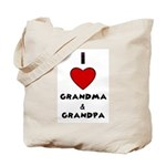 I LOVE GRANDMA AND GRANDPA Tote Bag