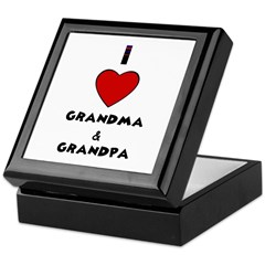 I LOVE GRANDMA AND GRANDPA Keepsake Box