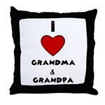 I LOVE GRANDMA AND GRANDPA Throw Pillow