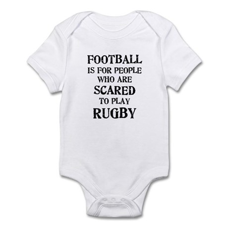 Rugby vs. Football 2 Infant Bodysuit