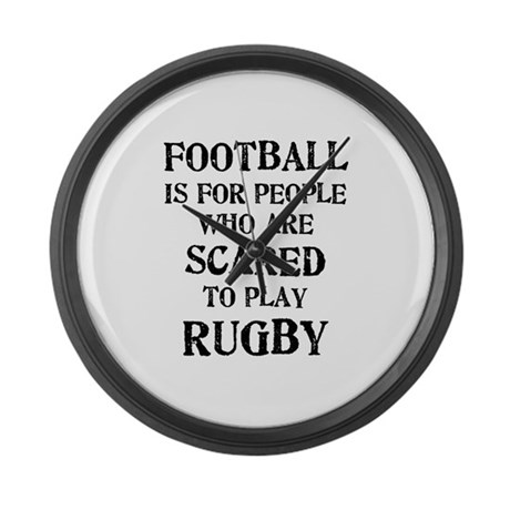 Rugby vs. Football 2 Large Wall Clock