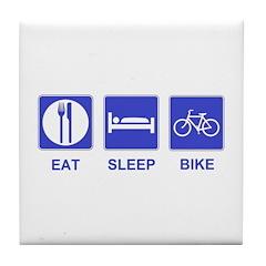 Eat Sleep Ride Tile Coaster
