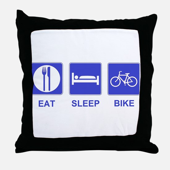 Eat Sleep Ride Throw Pillow
