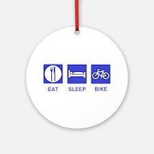 Eat Sleep Ride Ornament (Round)