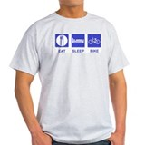 Eat sleep cycle shirt Mens Light T-shirts