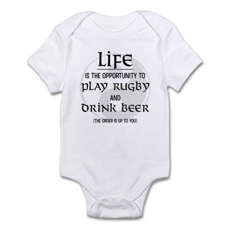 Rugby and Beer Infant Bodysuit