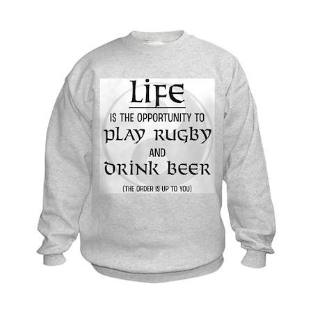Rugby and Beer Kids Sweatshirt