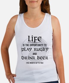 Rugby and Beer Women's Tank Top