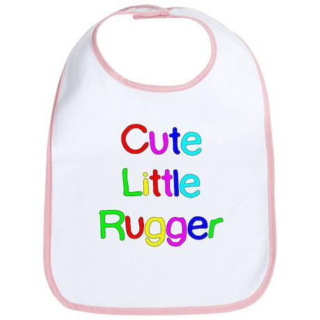 Cute Little Rugger Bib
