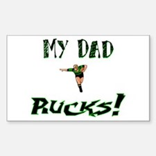 My Dad Rucks Rectangle Decal