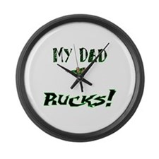 My Dad Rucks Large Wall Clock