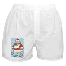 Santa Jaws Boxer Shorts