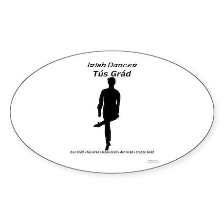 Boy Tús Grád - Oval Sticker