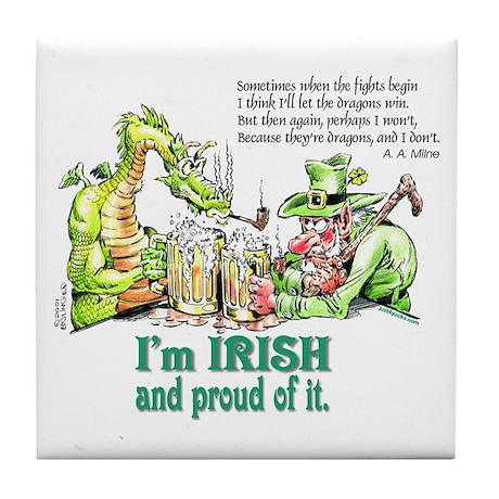 Irish Dragons Tile Coaster