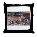 Mystery Cave Throw Pillow