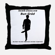 Boy Bun Grád - Throw Pillow