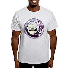 Twilight New Moon Grunge Ribbon Crest T-Shirt