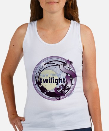 Twilight New Moon Grunge Ribbon Crest Women's Tank