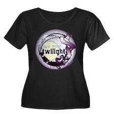 Twilight New Moon Grunge Ribbon Crest T