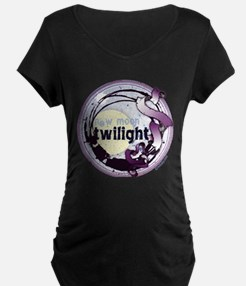Twilight New Moon Grunge Ribbon Crest T-Shirt