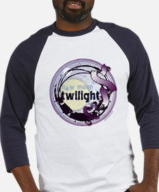 Twilight New Moon Grunge Ribbon Crest Baseball Jer
