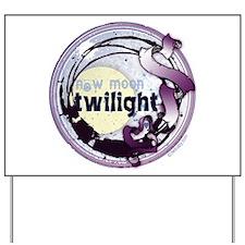 Twilight New Moon Grunge Ribbon Crest Yard Sign