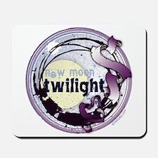 Twilight New Moon Grunge Ribbon Crest Mousepad