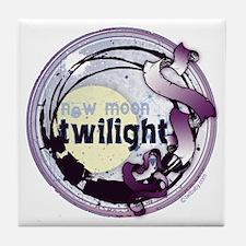 Twilight New Moon Grunge Ribbon Crest Tile Coaster