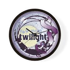 Twilight New Moon Grunge Ribbon Crest Wall Clock