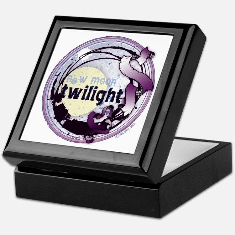 Twilight New Moon Grunge Ribbon Crest Keepsake Box