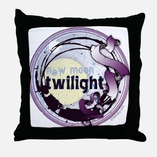 Twilight New Moon Grunge Ribbon Crest Throw Pillow