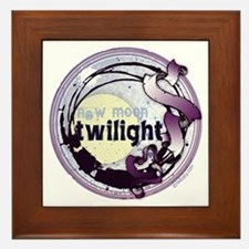 Twilight New Moon Grunge Ribbon Crest Framed Tile
