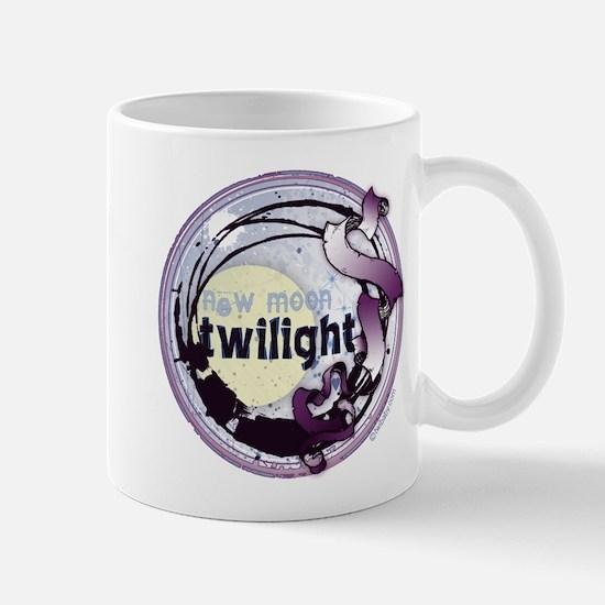 Twilight New Moon Grunge Ribbon Crest Mug