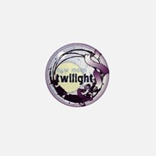 Twilight New Moon Grunge Ribbon Crest Mini Button